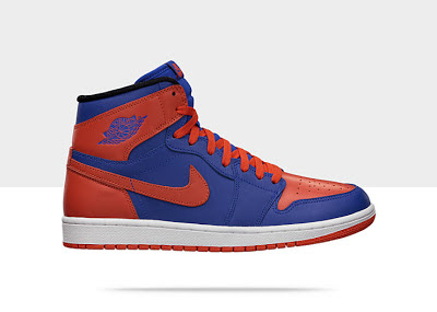 Air Jordan 1 Retro High OG Men's Shoe Blue/Orange, Style - Color # 555088-407