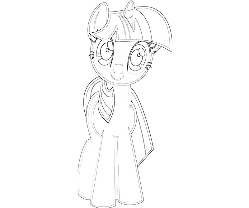 #19 Twilight Sparkle Coloring Page