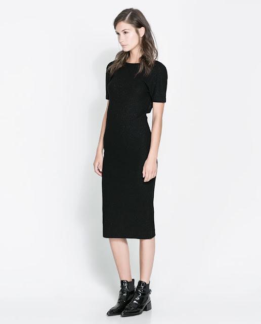 kollu siyah uzun elbise