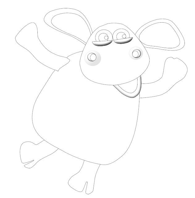 Belajar Mewarnai Tokoh Kartun Shaun The Sheep