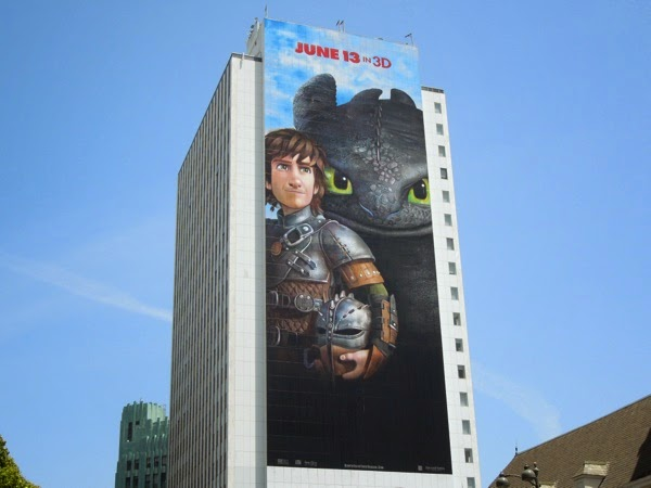 Giant How to Train Your Dragon 2 movie billboard
