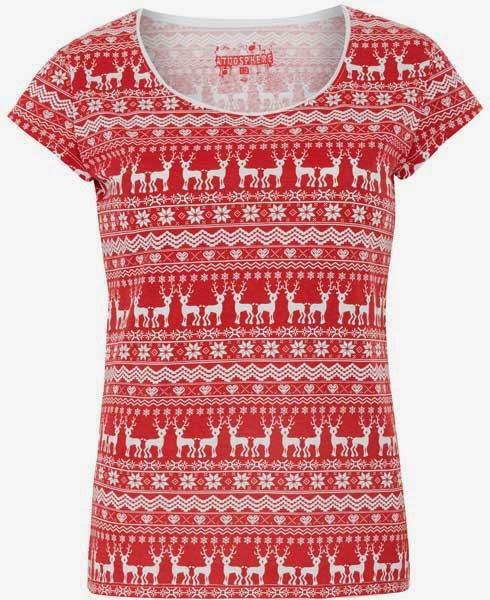 Camiseta con estampado navideño para mujer de Primark