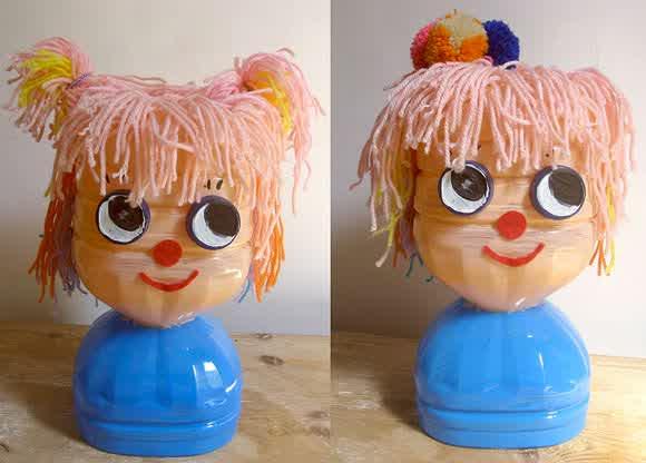 Кукла из пластиковых бутылок своими руками