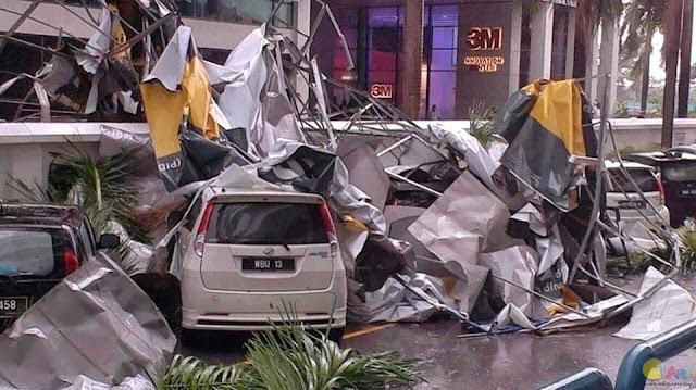 Gambar Sekitar Shah Alam Teruk Selepas Ribut Kuat