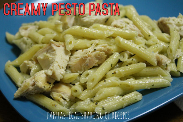Creamy Pesto Pasta - a light penne pasta bursting with flavor | www.fantasticalsharing.com