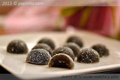 Dulces de té verde matcha y piña/pasta de frutas de té verde y piña