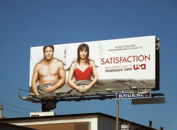 Satisfaction series premiere billboard