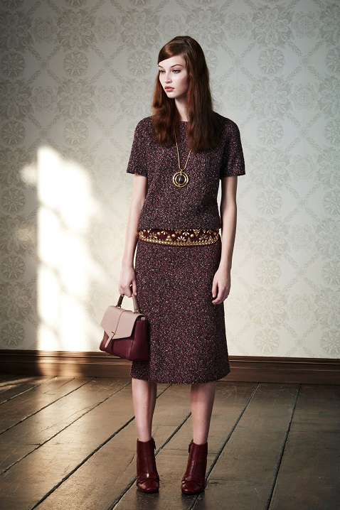 bdc65639469 Tory Burch pre Fall 2015 collection inspired by the idea of  prim meets  free-spirited.