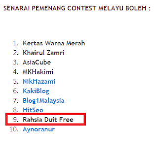 menang contest SEO Melayu Boleh