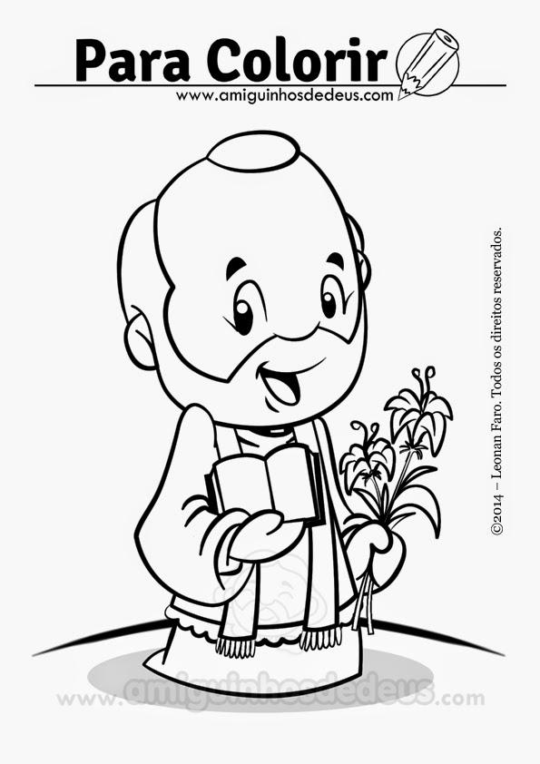 Santo Antônio Maria Zaccaria desenho para colorir