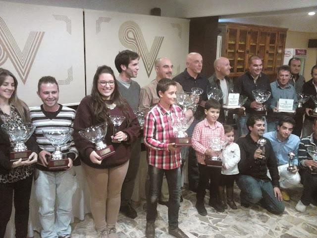 Entrega de premios con Beatriz García Sanchez en la parte central de la foto