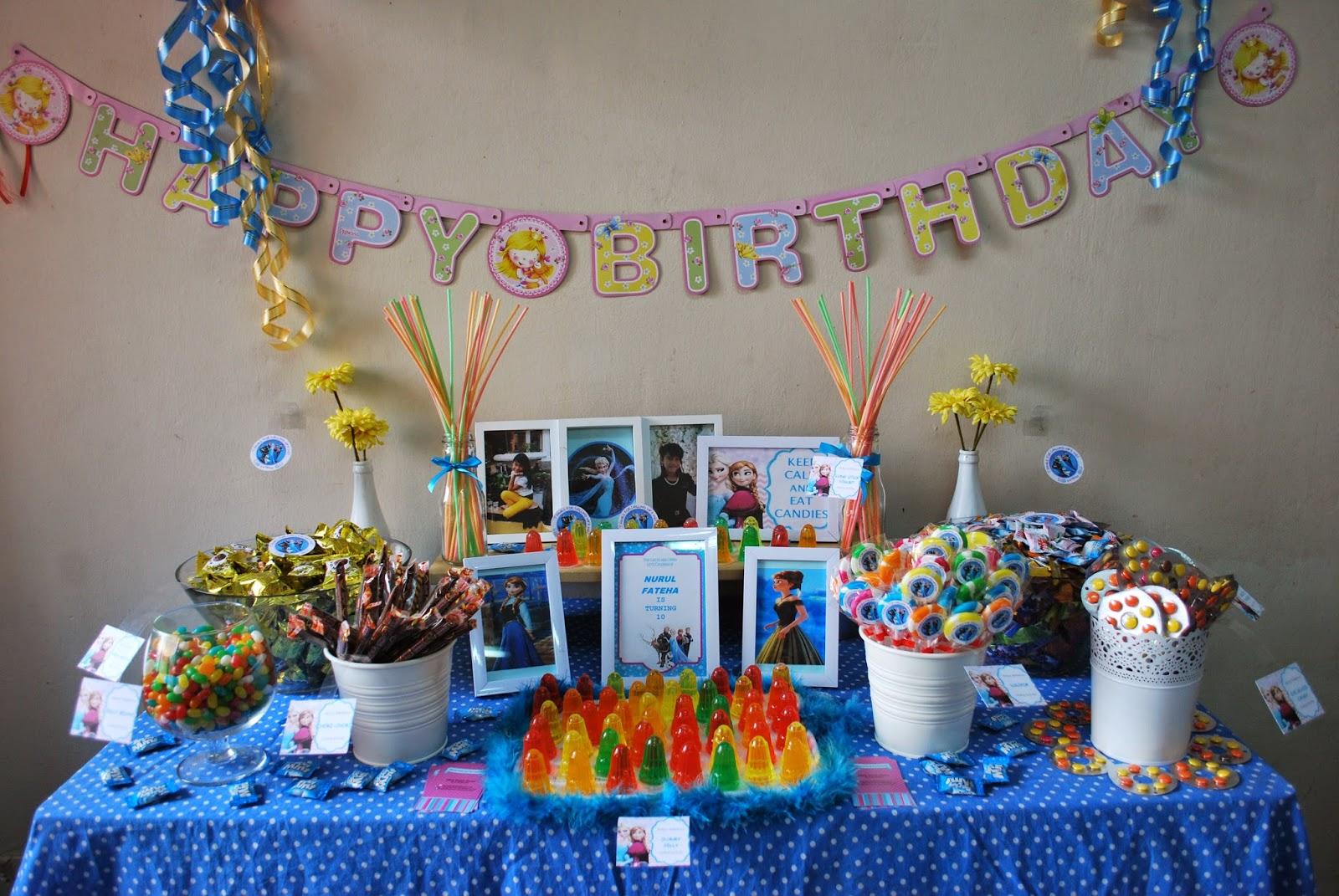 Sweetheartstories Fateha Birthday Party Frozen Theme