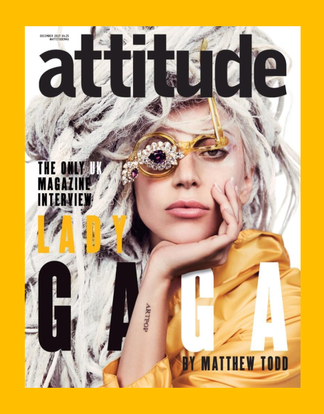 Lady Gaga Attitude Magazine December 2013 Cover