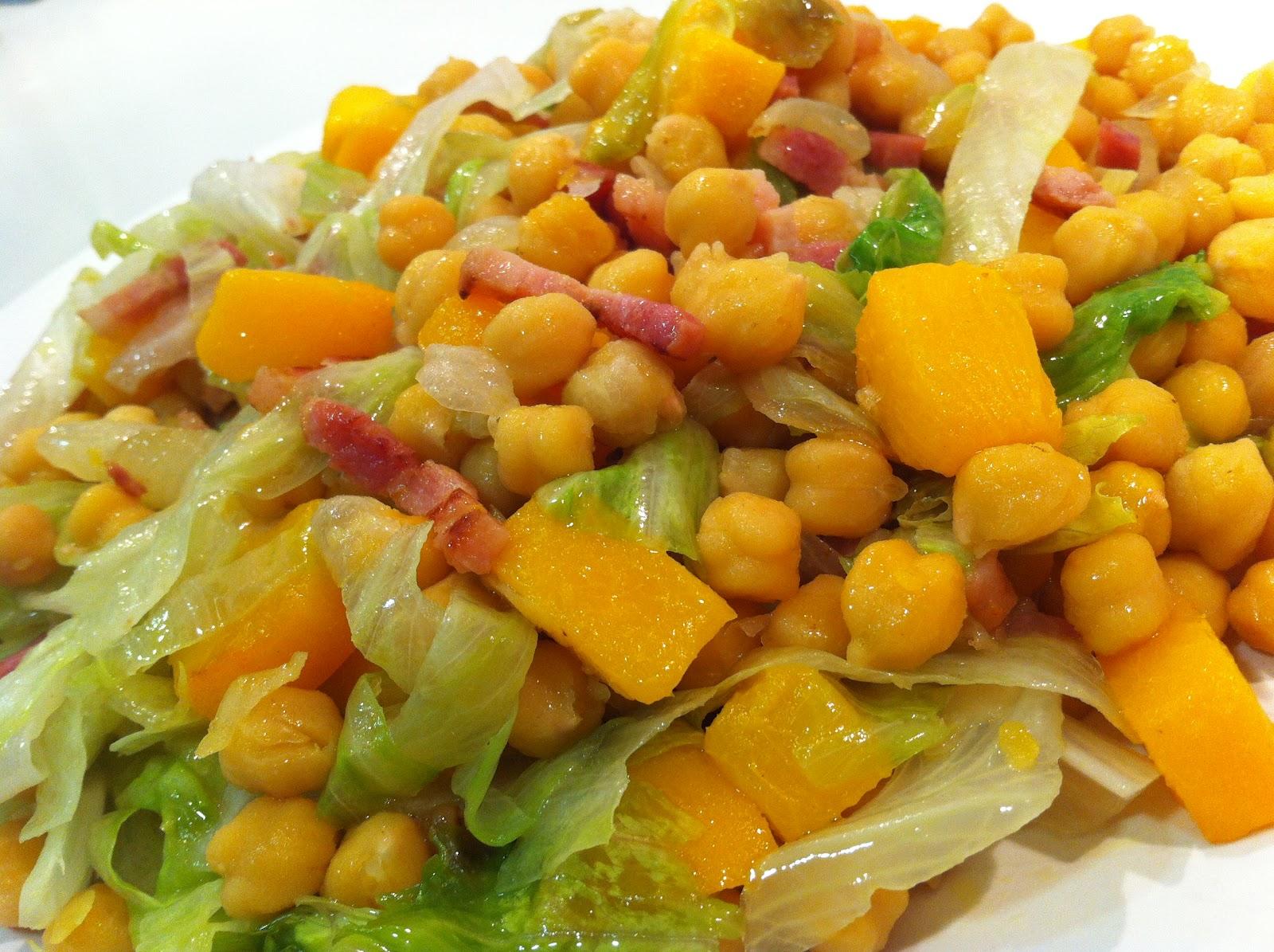 Recetas de cocina para todos ensalada templada de - Preparacion de garbanzos cocidos ...
