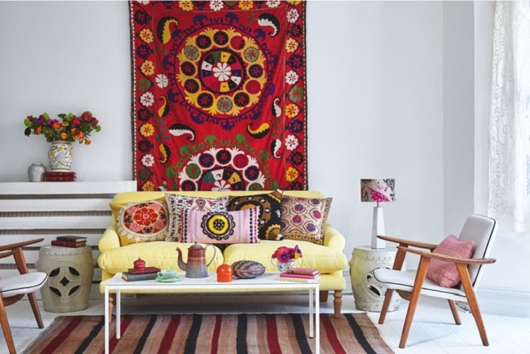 Suzani Wall Hanging & Pillows