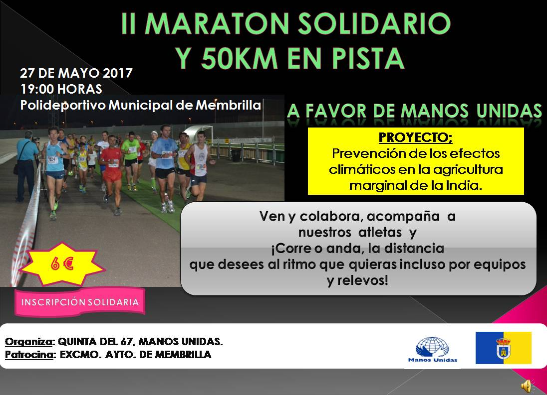 50km solidarios pista
