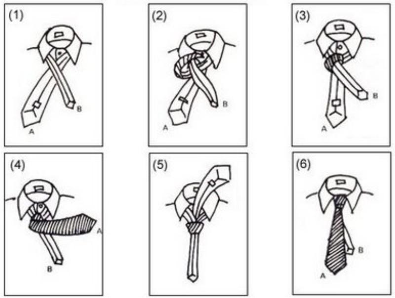 cara mengikat dasi - cara melipat dasi segitiga
