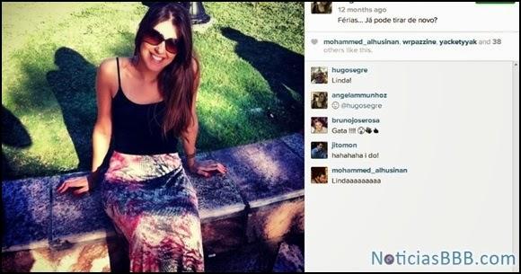 instagram Angela Moraes BBB14 Flagras