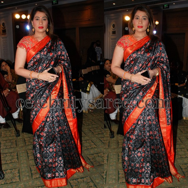 Shreedevi Black Pochampally Silk Sari