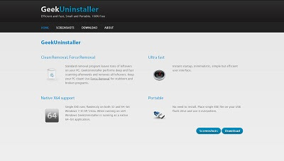 GeekUninstaller, Uninstaller