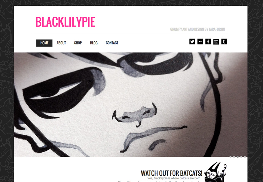 blacklilypie.com website frontpage grab screenshot