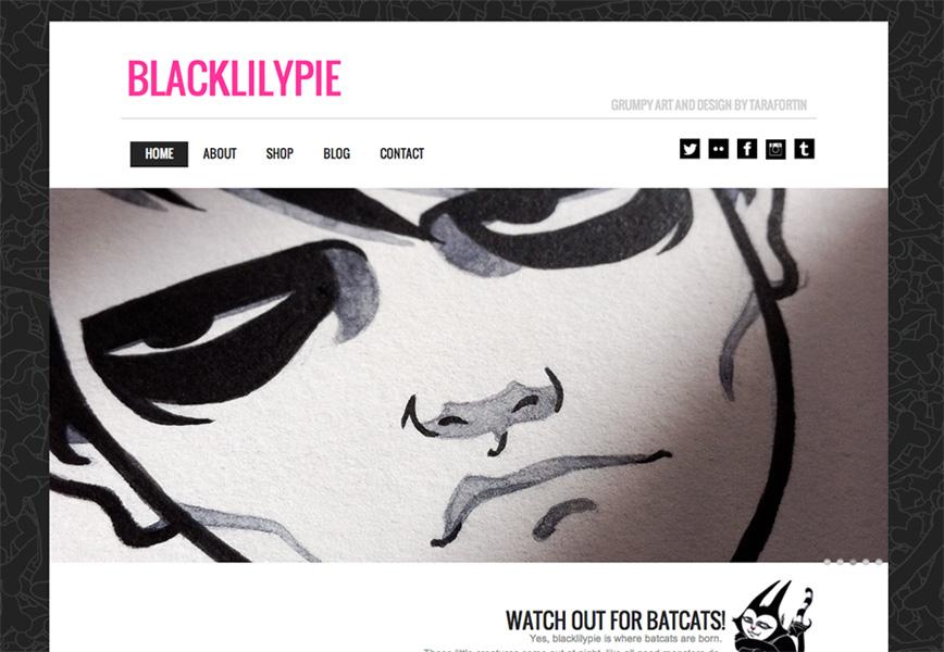 blacklilypie.com website frontpage grab screenshot