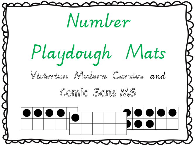 http://www.teacherspayteachers.com/Product/Number-Playdough-Mats-0-20-Victorian-Modern-Cursive-1116509