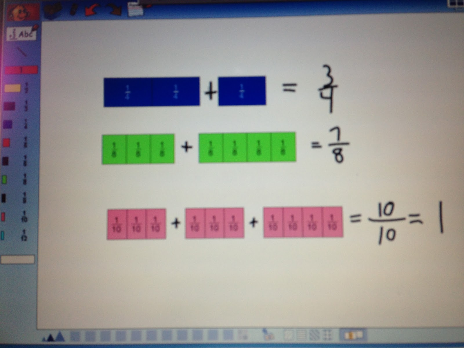 with unit fractions which i also call counting fractions just like we ...
