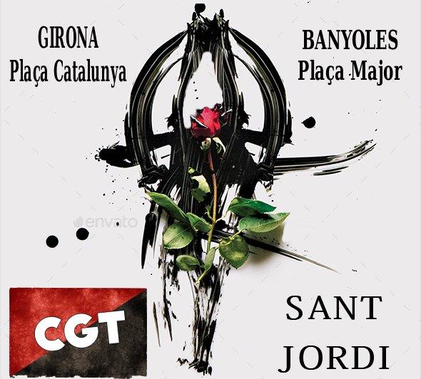 Parades de llibres de la CGT per Sant Jordi a Girona i Banyoles