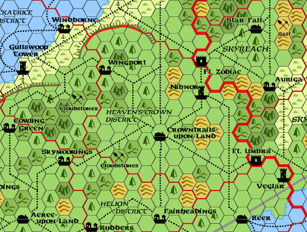 Mystara Alphatia Ar Heaven's Crown Map