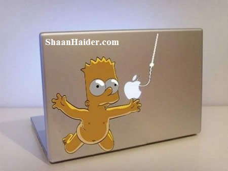 Simpson MacBook Stickers for Apple Lovers