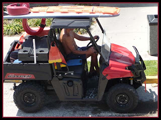 beach rescue vehicle at Cocoa Beach