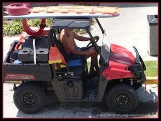 beach rescue vehicle at Cocoa Beach
