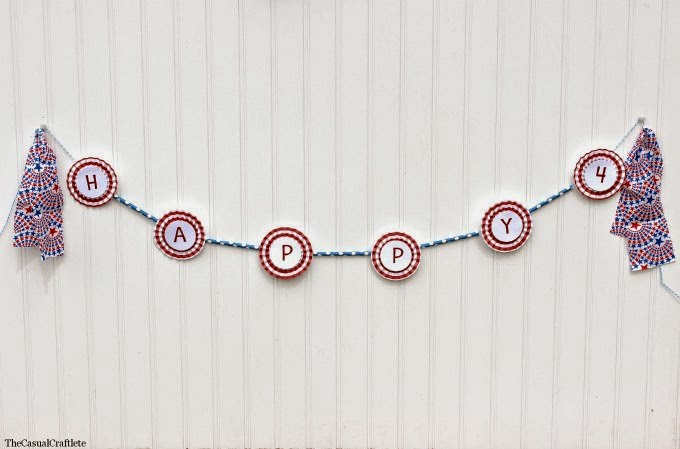 4th of July Paper Straw Banner