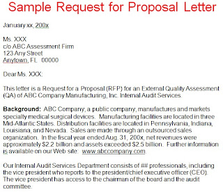 Request For Proposal Letter Template | Request Proposal Letter Example |  Proposal Cover Letter