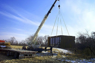 Small cheap prefab house