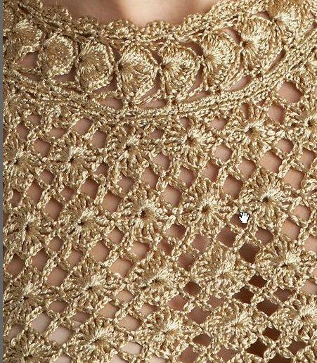 Вязание золотыми нитками 12
