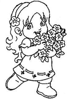 Desenhos Para Colorir menina animada