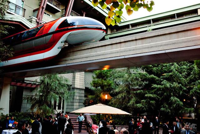 Disneyland Wedding Grand Californian Hotel Monorail Brisa Courtyard