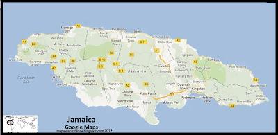 Mapa de Jamaica, Google Maps