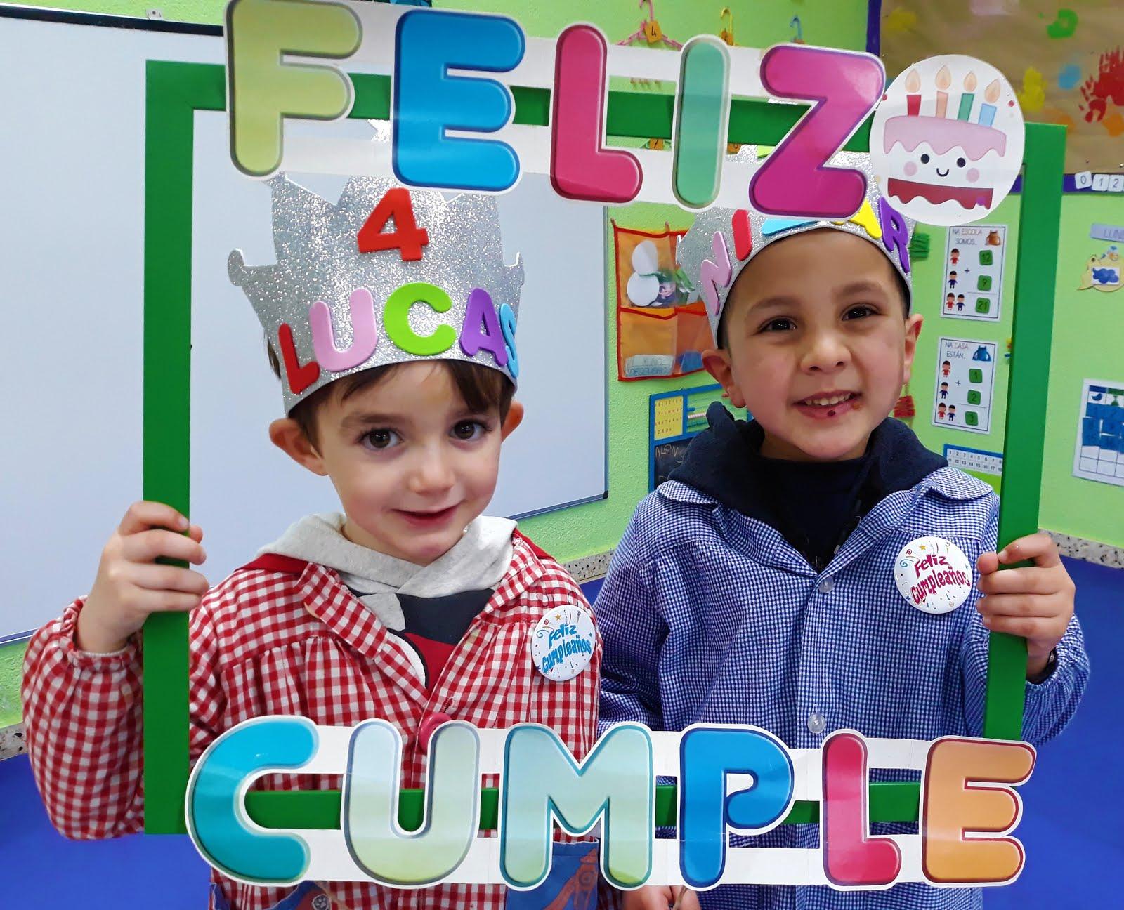 En xaneiro celebramos os aniversarios de Lucas e Nizar!