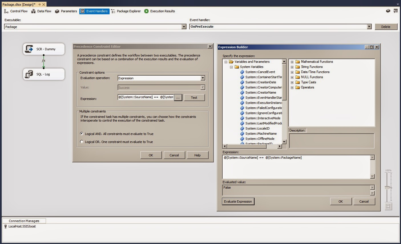 how to create ssis package in sql server 2014