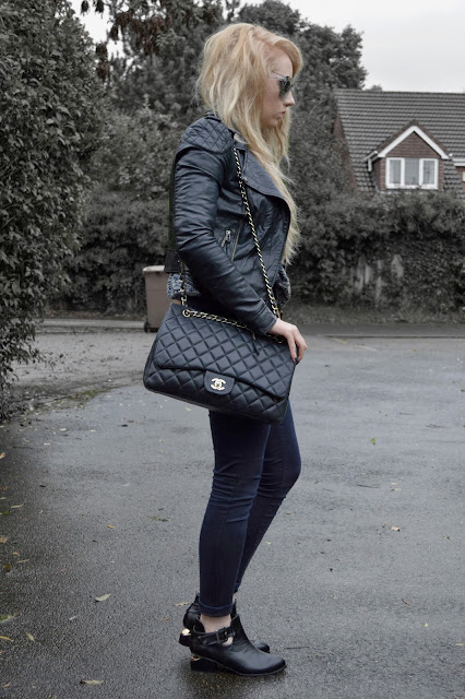 Sammi Jackson - Grey, Leather + Cutout Heels