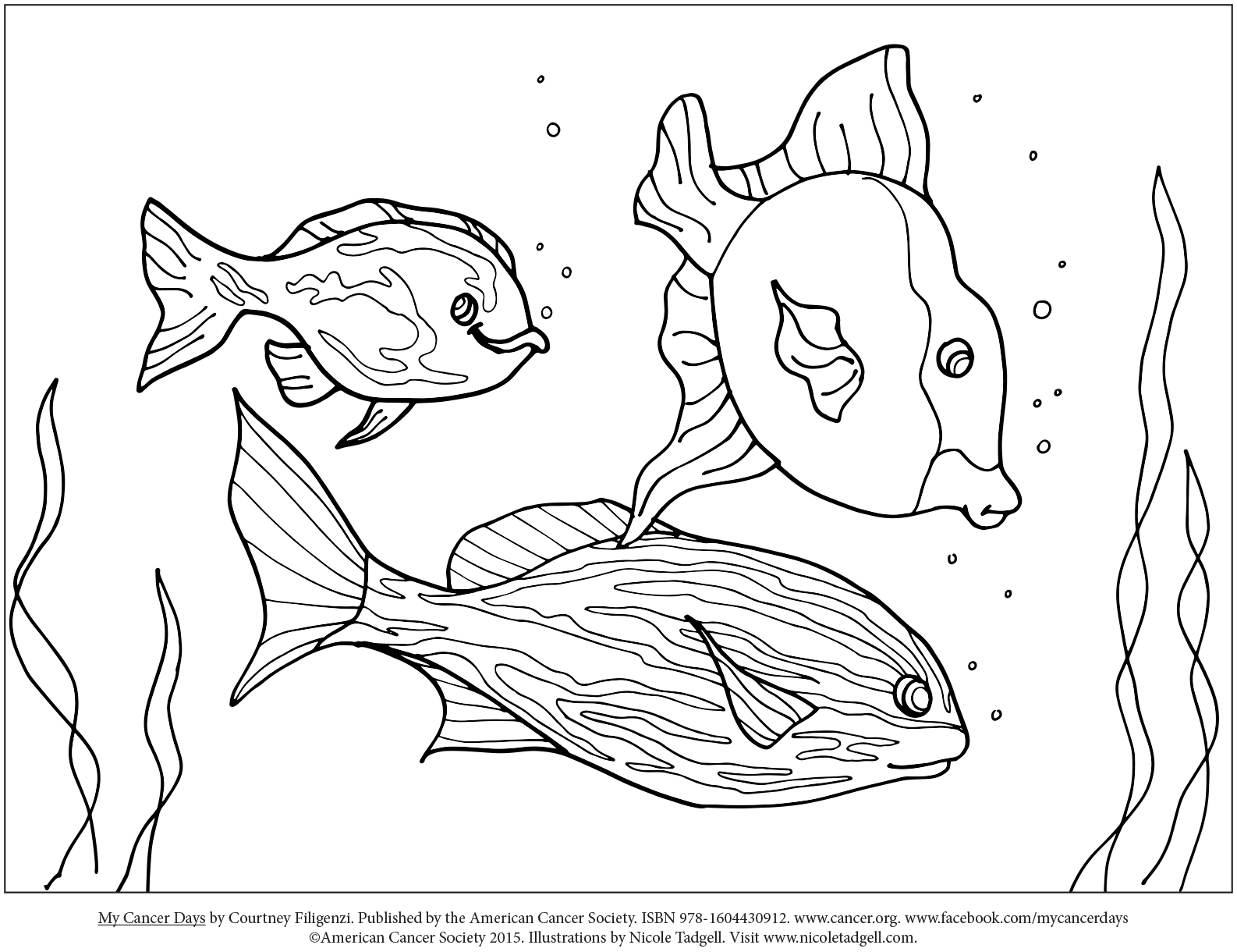 Nicole Tadgell Illustration: Coloring Pages for My Cancer Days