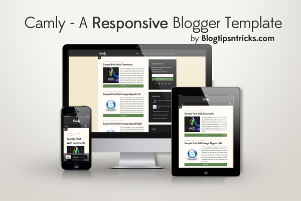 Camly a Responsive Blogger Theme Demo
