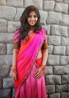 Anjali in Lovely Red and Pink Saree with Matching Blouse and Lovely New Hairstyle with Red Bangles