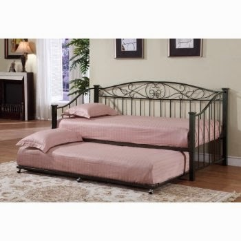 Metal Twin Daybed Frame With Trundle Mattresses Picture