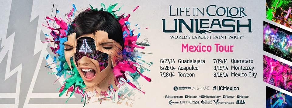 Boletos Life in Color Tour Mexico 2014