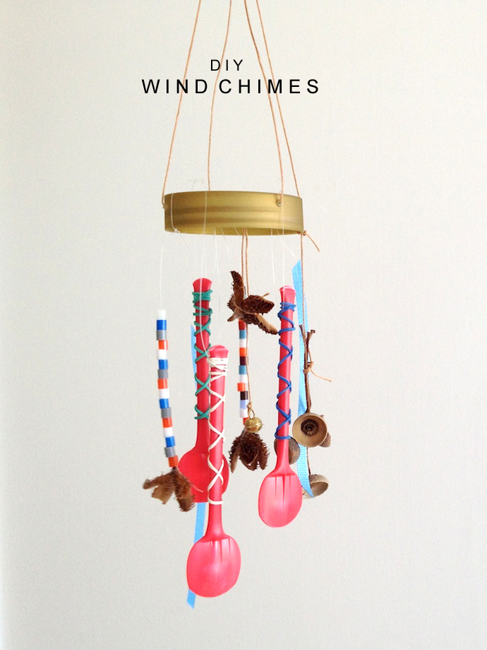 Schaeresteipapier diy wind chimes windspiel for Wind chimes from recycled materials