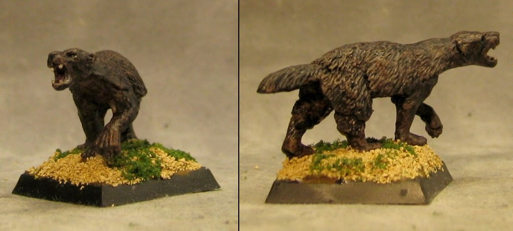 Minismiths Minis For Ebay Ral Partha Prehistoric Giant Weasel Monster
